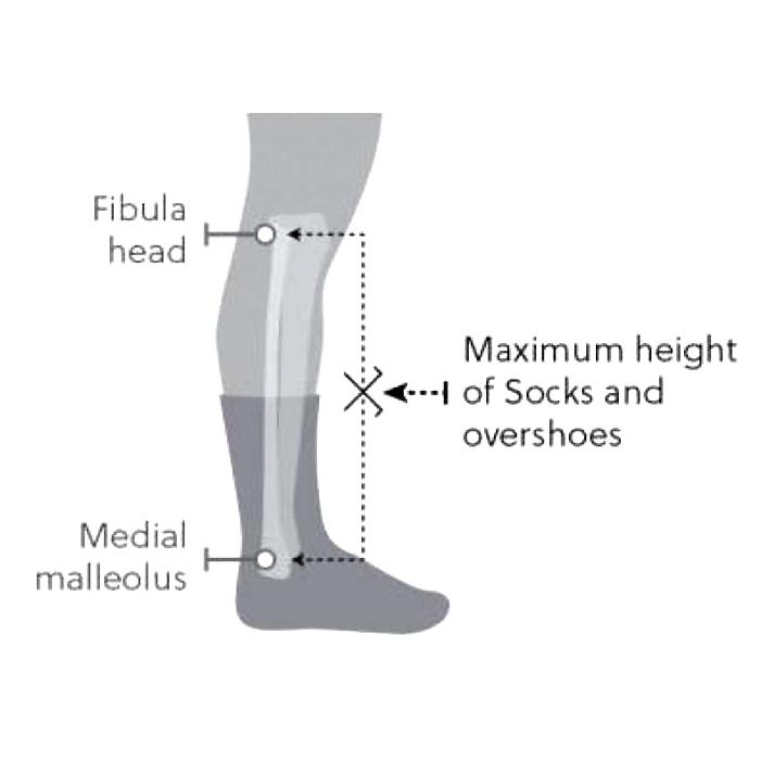 altura de los calcetines