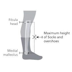 altura calcetines