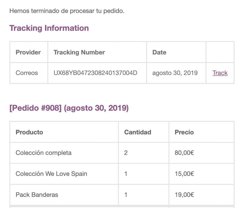 Tracking de pedido